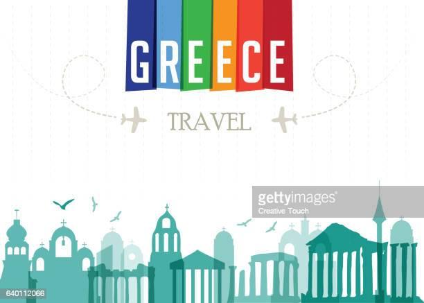 world travel and famous locations - greece - santorini stock illustrations