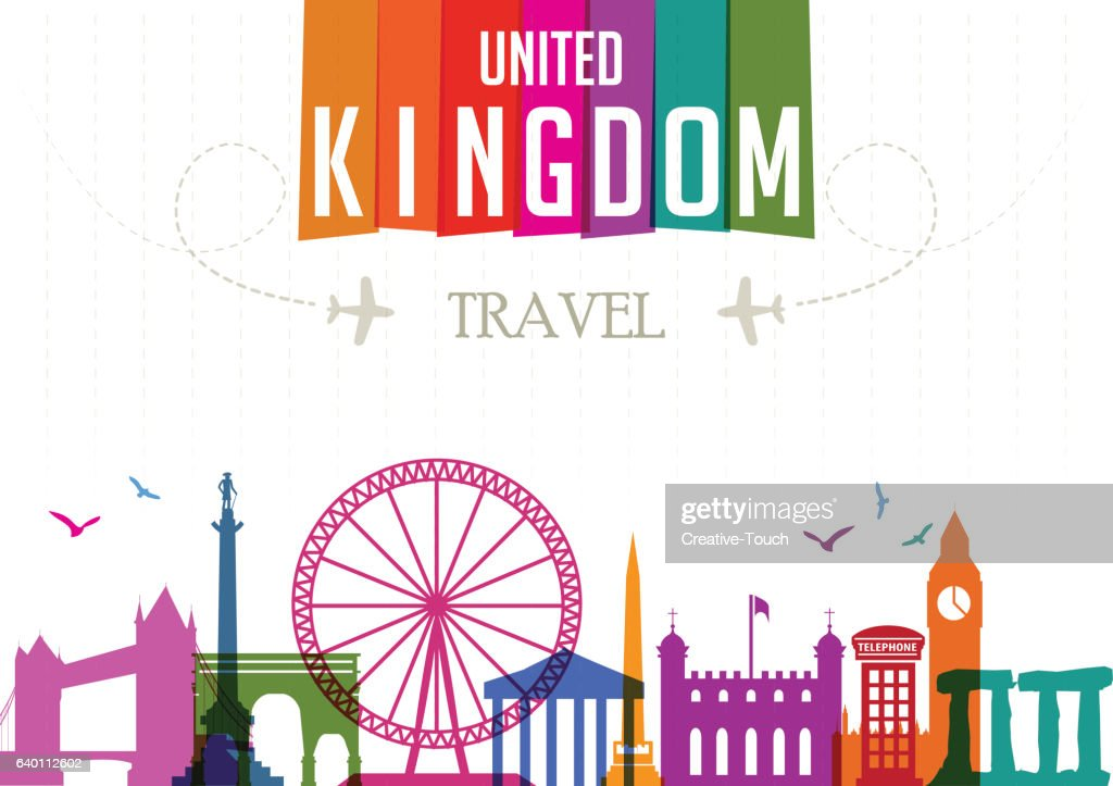World Travel and Famous Locations - United Kingdom : stock illustration