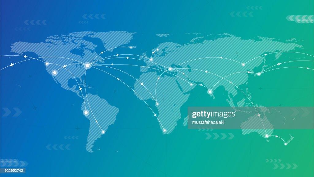 Fondo de viajes del mundo : Ilustración de stock