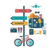 World travel concept background