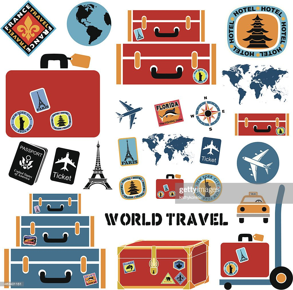 World travel design elements : stock illustration