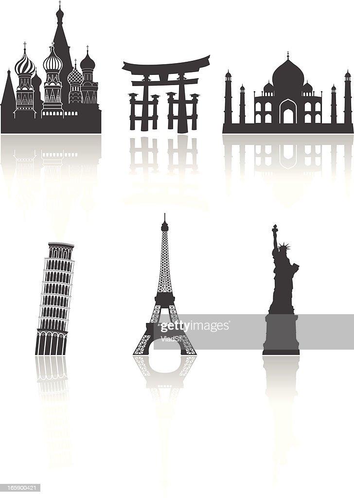 World travel landmarks