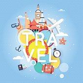 World Travel. Planning summer vacations. Summer holiday.