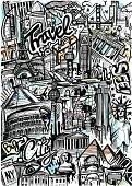 World Travel Sketch