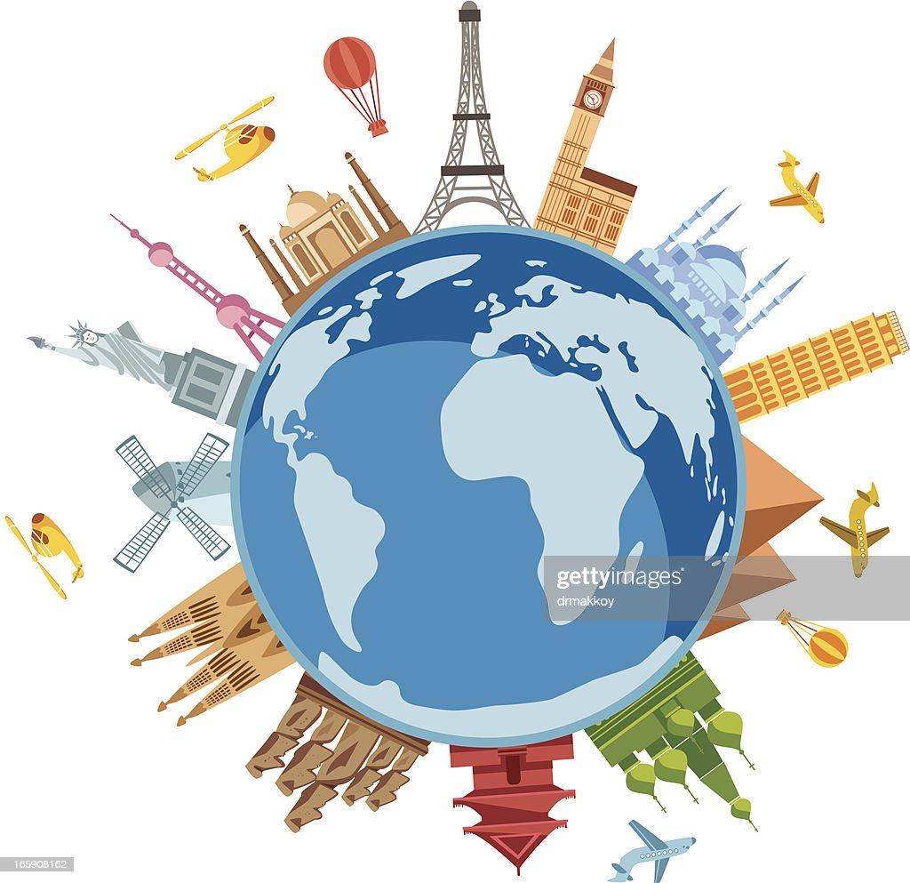World Travel Symbols : stock illustration