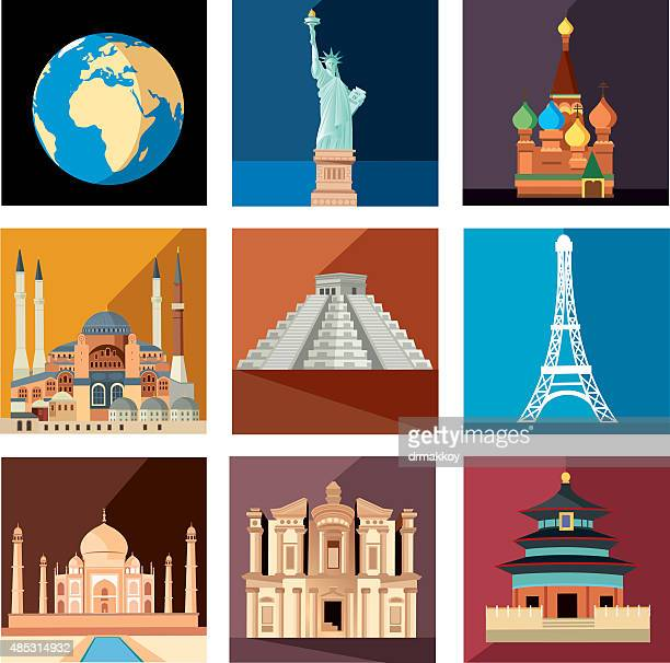 world travel symbols - jordan middle east stock illustrations, clip art, cartoons, & icons