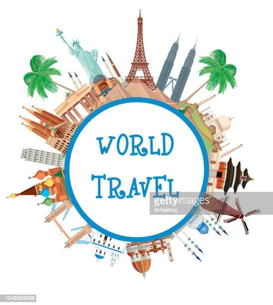 ilustrações, clipart, desenhos animados e ícones de world travel - taj mahal