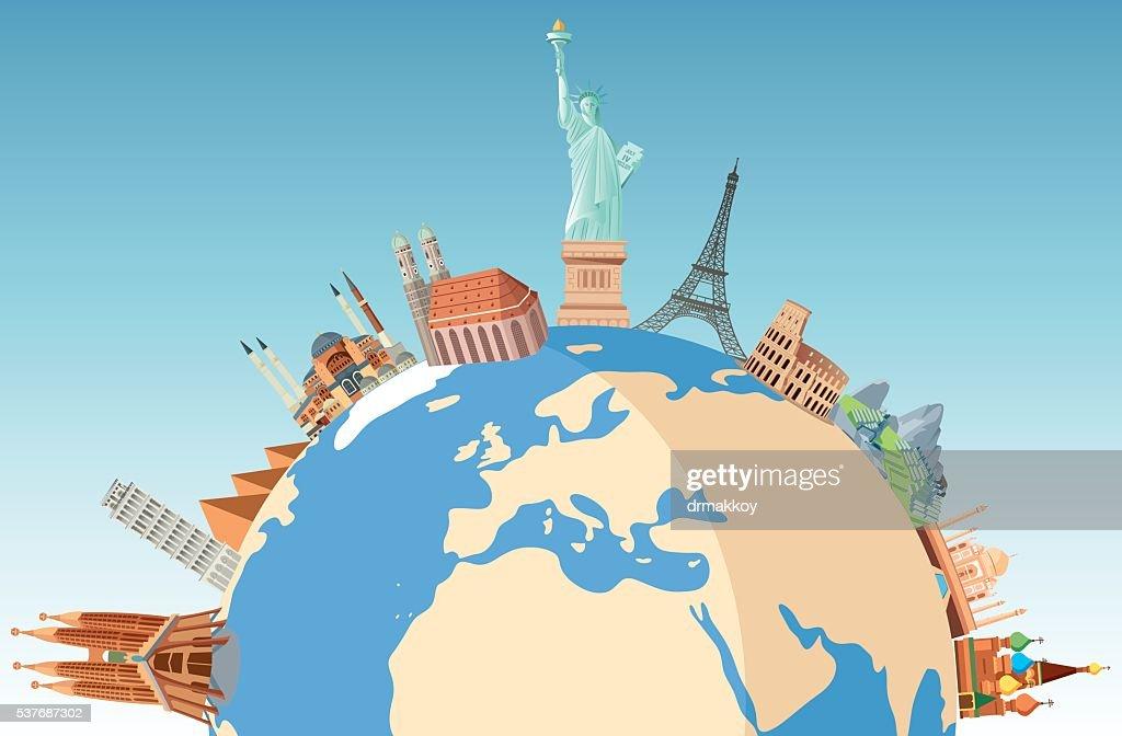 World de viajes : Ilustración de stock
