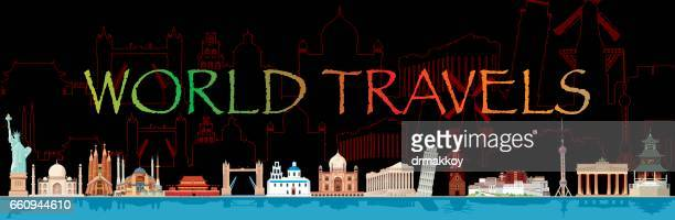 stockillustraties, clipart, cartoons en iconen met world travel - noord holland