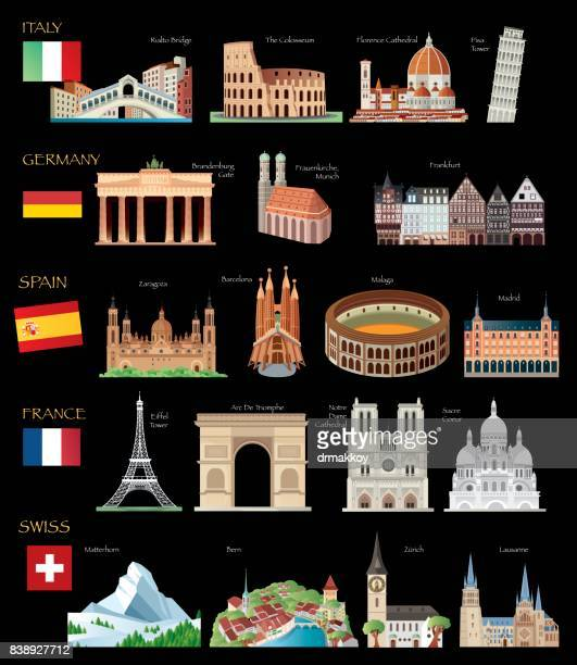world travel - brandenburg gate stock illustrations, clip art, cartoons, & icons