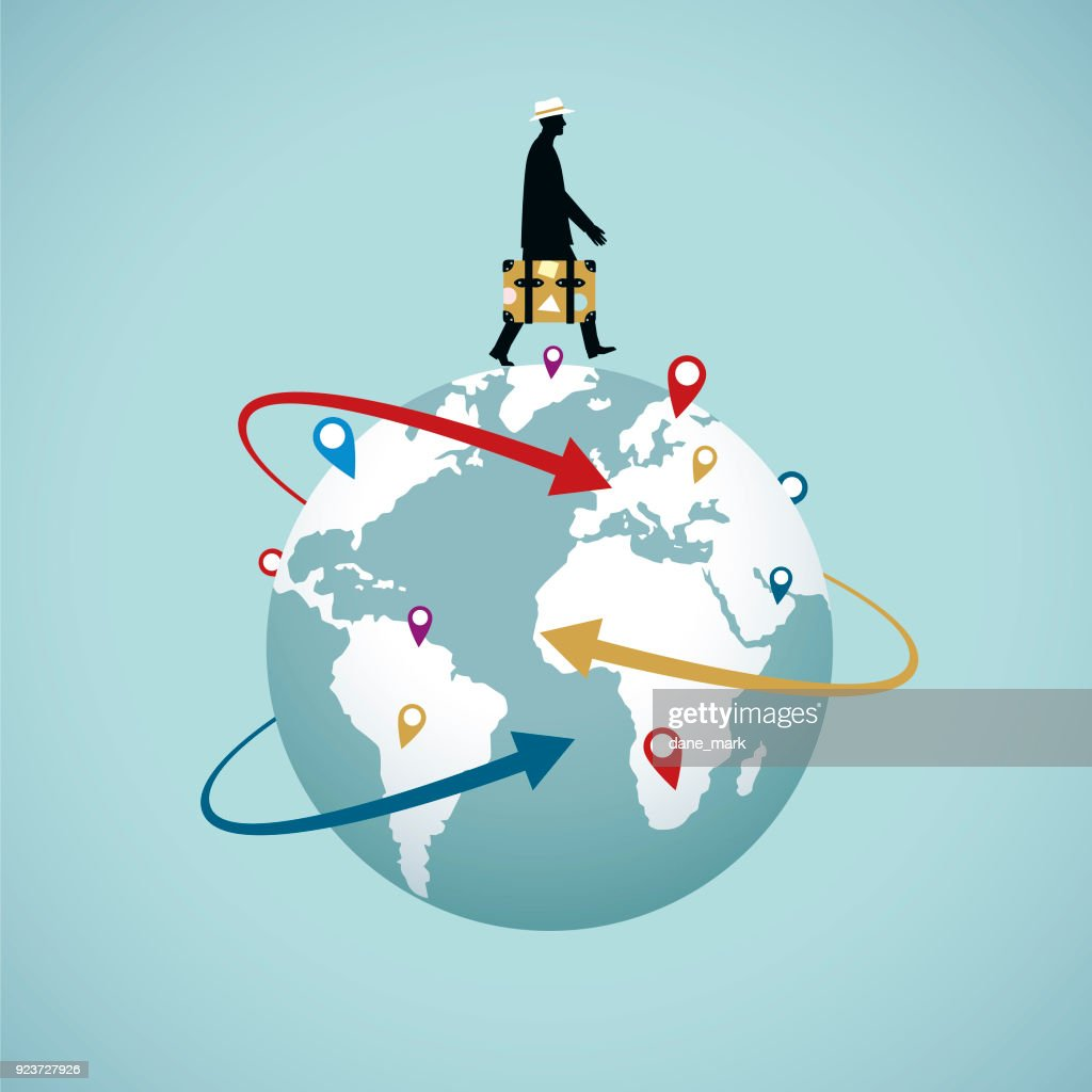 World Travel : stock illustration