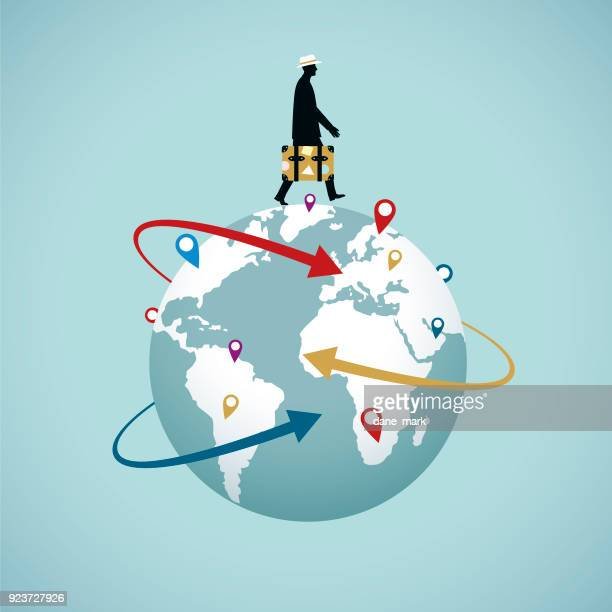 world reisen - travel destinations stock-grafiken, -clipart, -cartoons und -symbole
