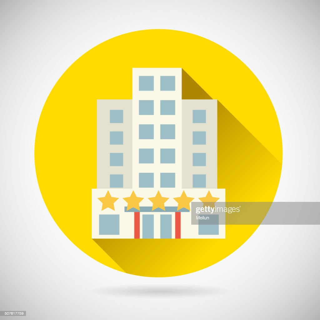 World Trip Symbol Best Star Hotel Inn Rest Icon on