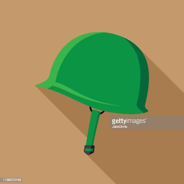 world war 2 helmet icon flat - us marine corps stock illustrations, clip art, cartoons, & icons