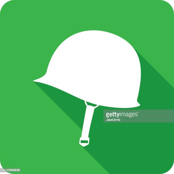 world war 2 helmet icon silhouette - world war ii stock illustrations
