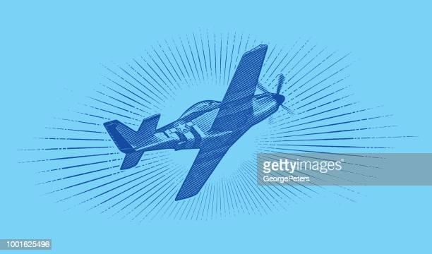 Weltkrieg II P-51 Mustang Flugzeug.