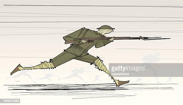 Un soldat Guerre mondiale en cours de chargement