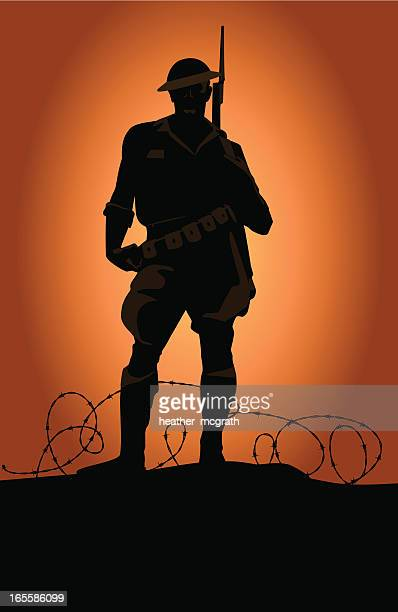 world war soldier - world war ii stock illustrations