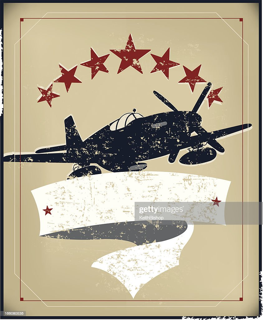 US World War Two Air Force Banner Background
