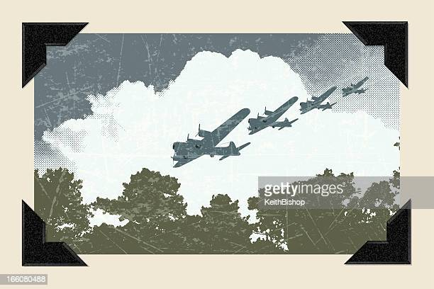 world war two - air raid background - world war ii stock illustrations