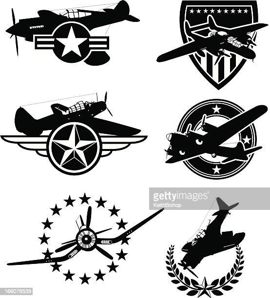 World War Two Airplane Icons - Armed Forces