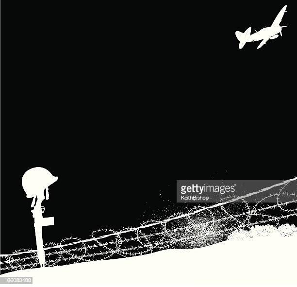 Guerra mundial dos Fallen Soldier, ejército, fondo de la Fuerza Aérea