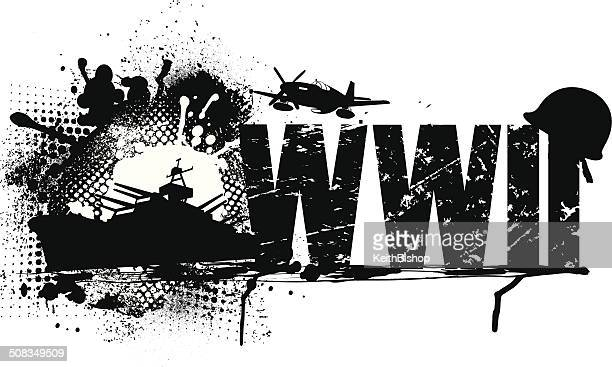 world war two graphic - world war ii stock illustrations