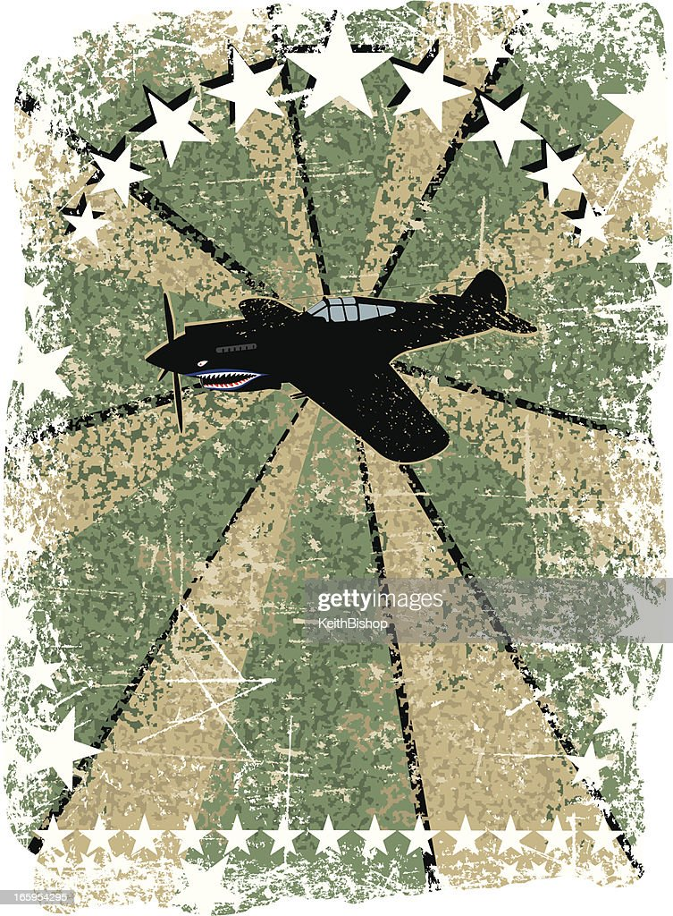 World War Two - US Fighter Plane Background