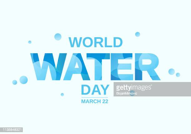 world water day abstract poster. vector illustration. - water conservation stock illustrations