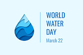 World Water Day - vector waterdrop concept