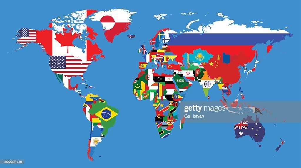 Worlds political map