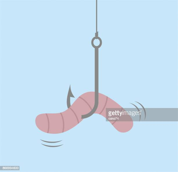 Worm on hook