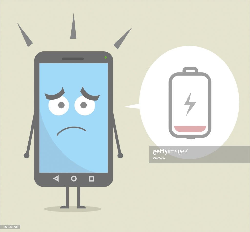 Worried Cartoon Smartphone High Res Vector Graphic Getty Images