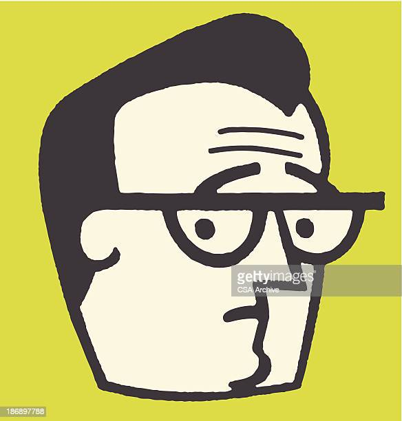 Worried Man in Eyeglasses