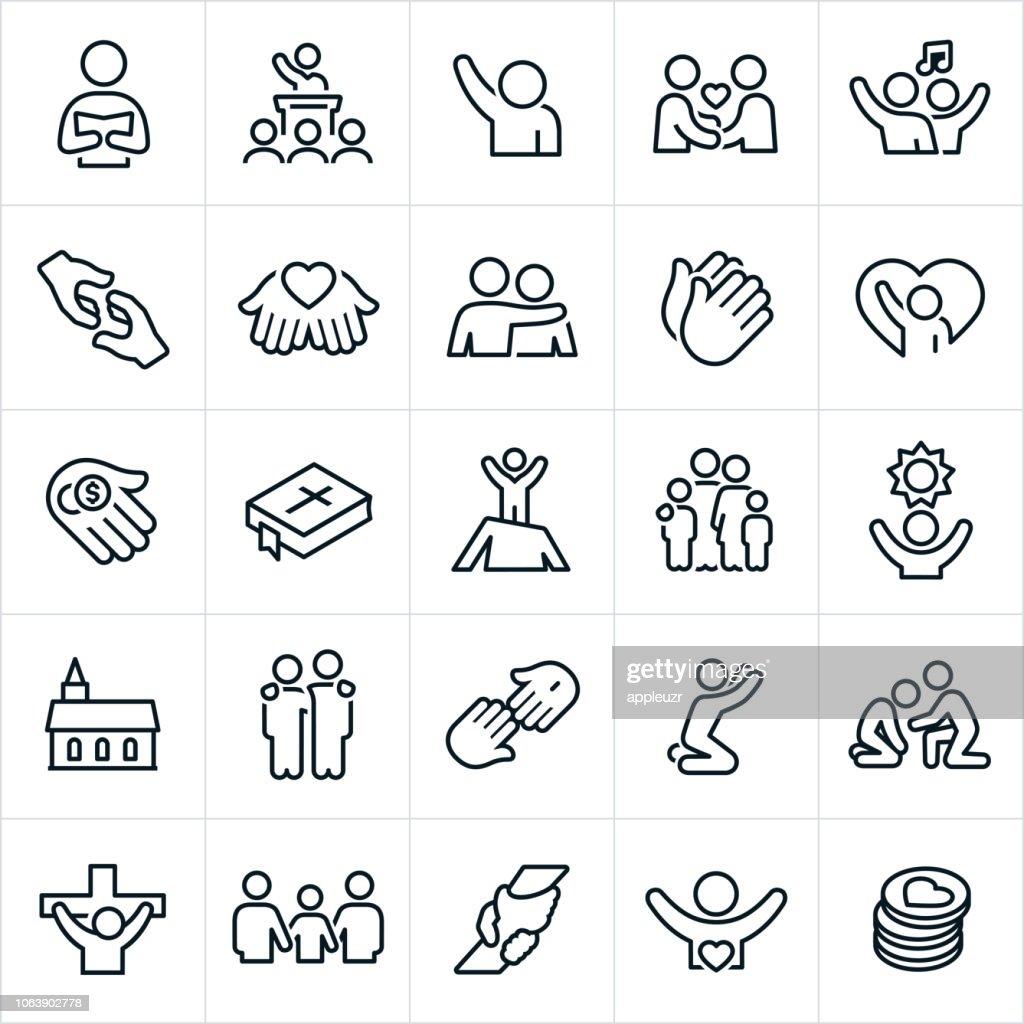 Worship Icons : stock illustration