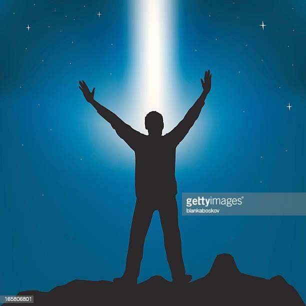 worship - praying stock illustrations, clip art, cartoons, & icons