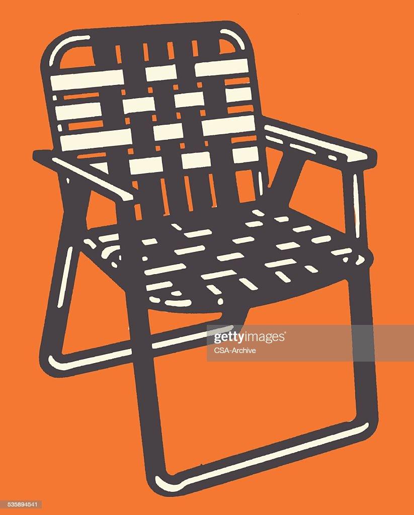 Woven Lawn Chair : Vector Art