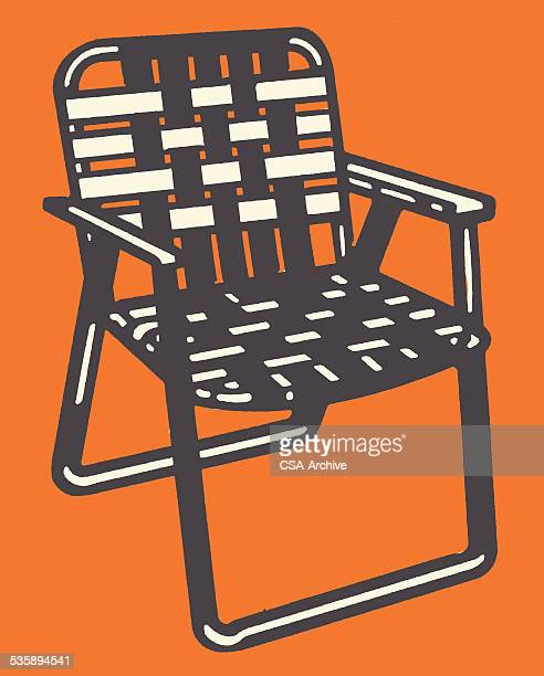 woven lawn chair - foldable stock illustrations