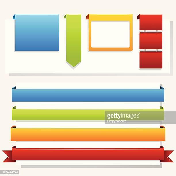 web バナーラップ - ウェブ2.0点のイラスト素材/クリップアート素材/マンガ素材/アイコン素材