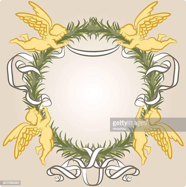 Corona con los ángeles