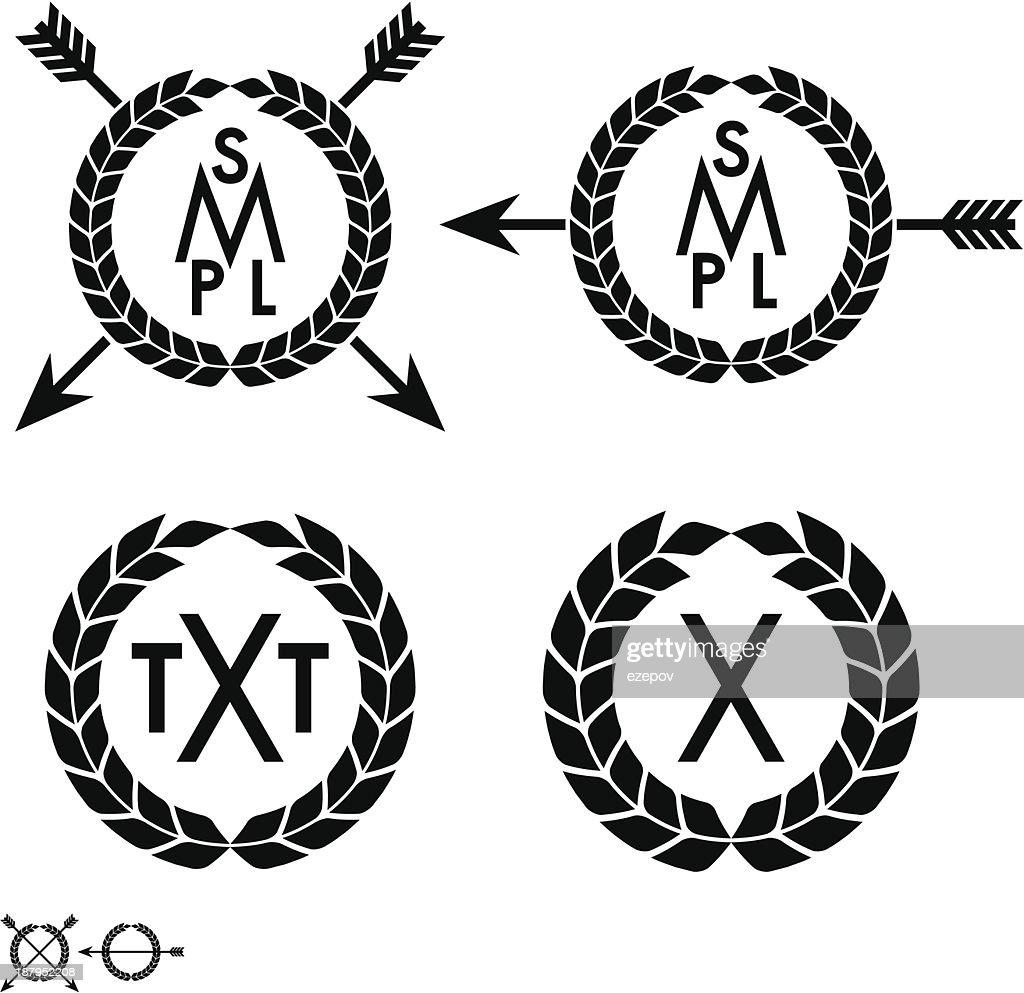 wreath with arrow