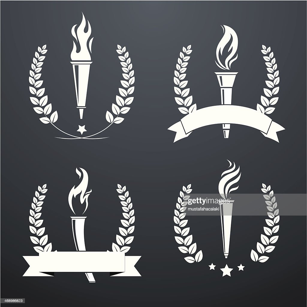 Wreath with torches : stock illustration