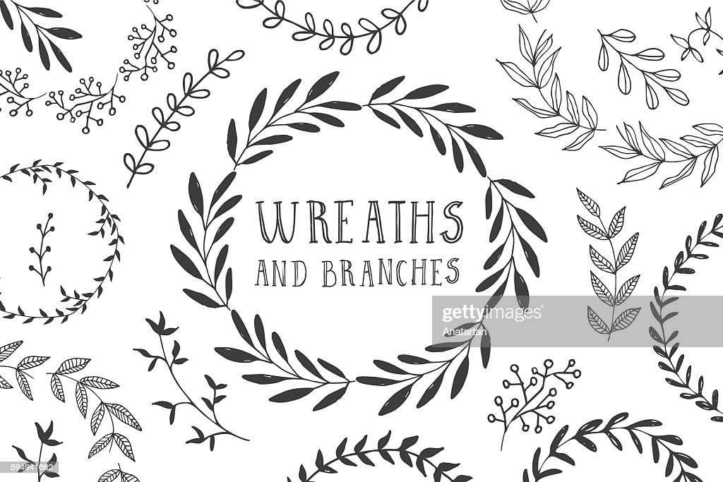 Wreaths and branches