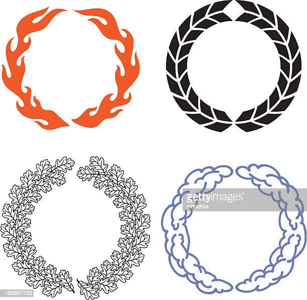 ilustrações, clipart, desenhos animados e ícones de wreaths - loureiro