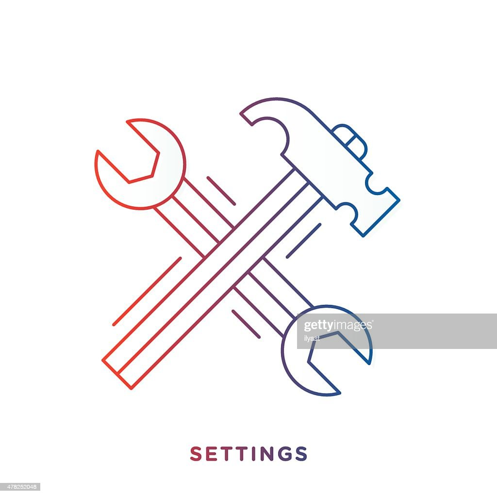 Wrench And Hammer Symbol Vector Art Getty Images