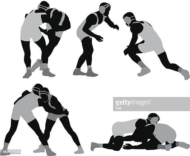 wrestlers - multiple image stock illustrations, clip art, cartoons, & icons