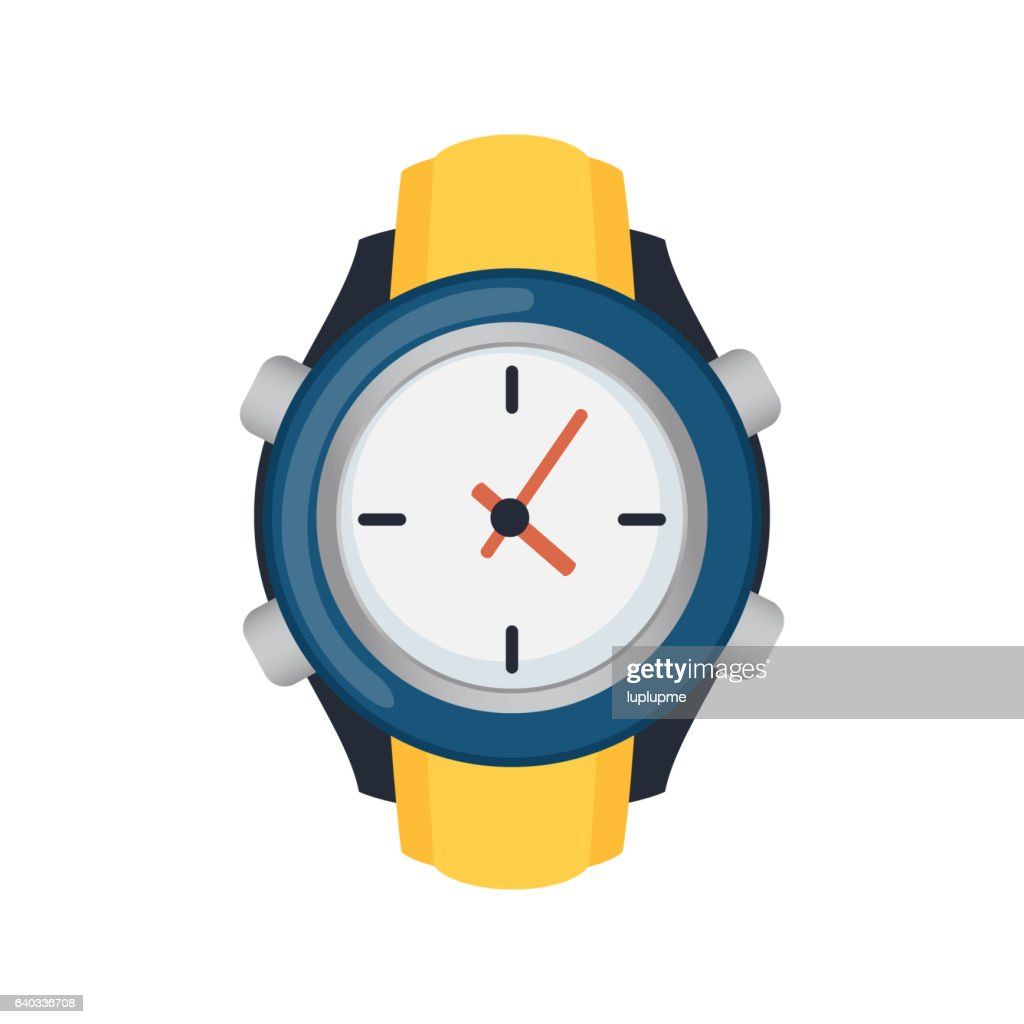 Wristwatch isolated on white background vector.