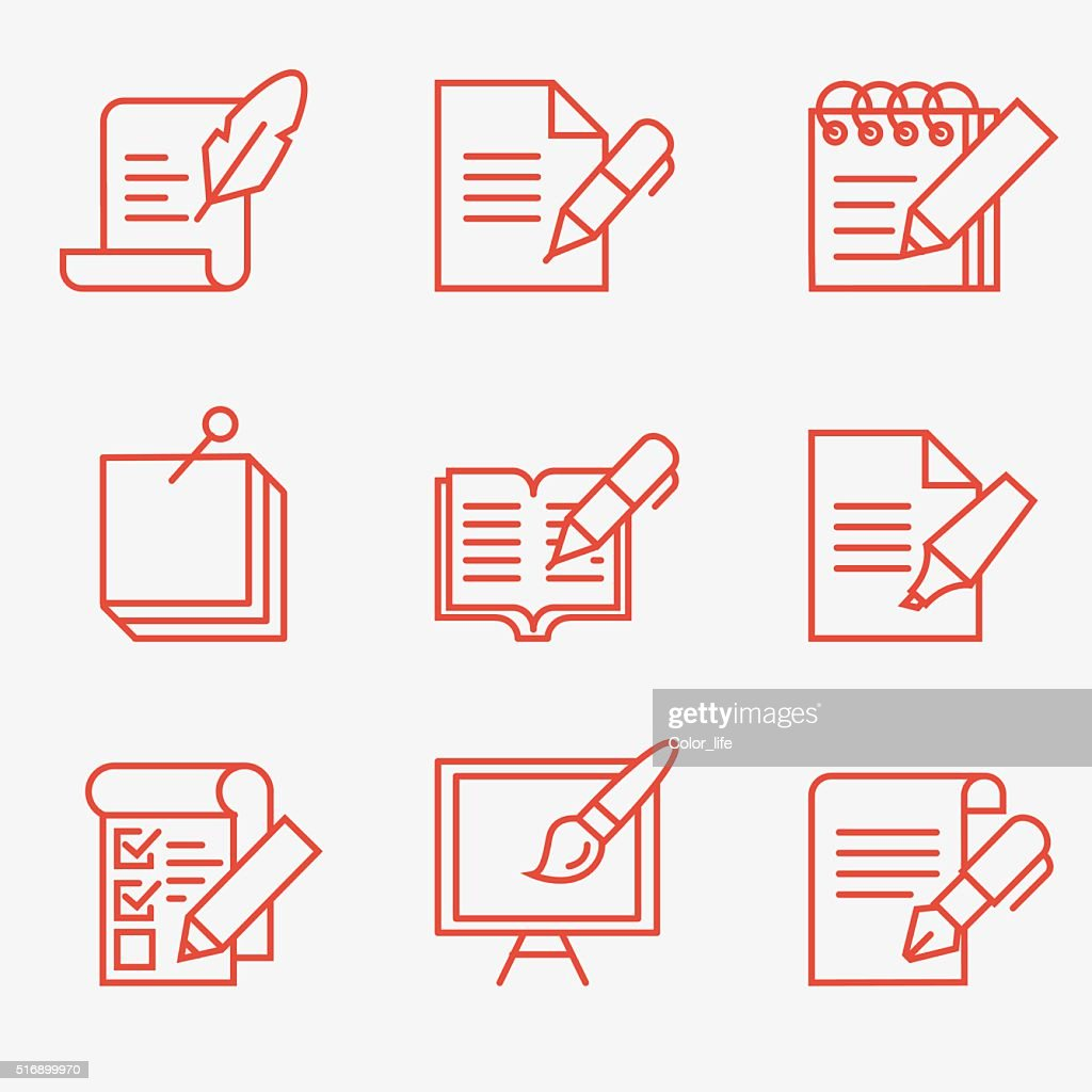 Writing tools icons