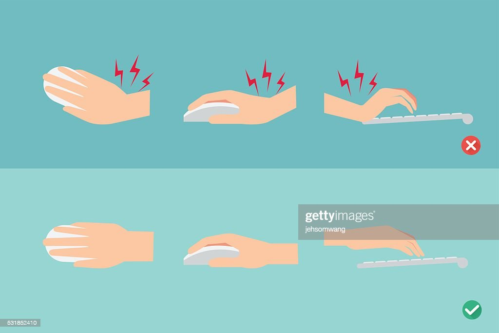 wrong and right ways for hand position