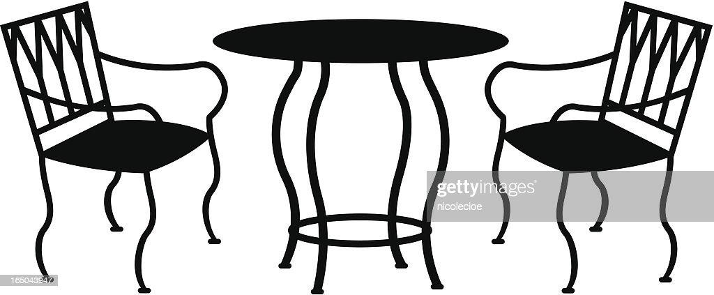 Wrought Iron Patio Furniture : Vector Art